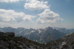 Massiccio delle montagne in Jezerce, Albania Fotografie Stock Libere da Diritti