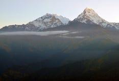 Massiccio di Annapurna. Il Nepal. Fotografia Stock Libera da Diritti
