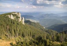 Massiccio di Ceahlau - Carpathians orientali, Romania Immagini Stock Libere da Diritti