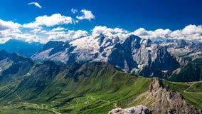 Massiccio di Marmolada, Dolomiti, Itay Fotografie Stock Libere da Diritti