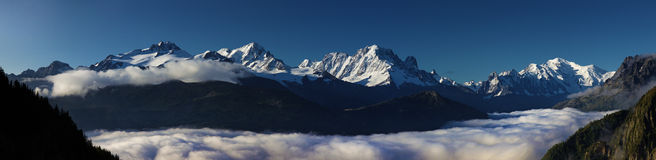 Massiccio di Mont Blanc Immagine Stock Libera da Diritti