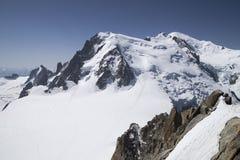 Massiccio di Mont Blanc Fotografia Stock