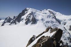 Massiccio di Mont Blanc Fotografie Stock