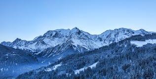 Massiccio di Mont Blanc Fotografia Stock Libera da Diritti