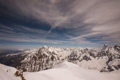 Massiccio di Mont Blanc in alpi francesi Fotografia Stock