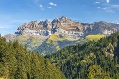 Massiccio di Mont Blanc in alpi svizzere, Svizzera Immagine Stock Libera da Diritti