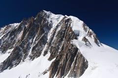 Massiccio di Mont Blanc - lato francese Fotografia Stock