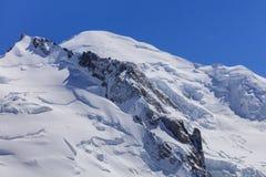 Massiccio di Mont Blanc nelle alpi francesi Fotografie Stock