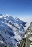 Massiccio di Mont Blanc nelle alpi francesi Fotografia Stock Libera da Diritti