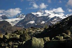 Massiccio di Monte Rosa Fotografia Stock Libera da Diritti