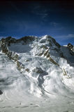 Massiccio di Monte Rosa con i ghiacciai Fotografia Stock Libera da Diritti