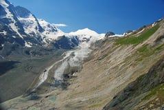 Massiccio e ghiacciaio di Grossglockner in Austria Fotografie Stock