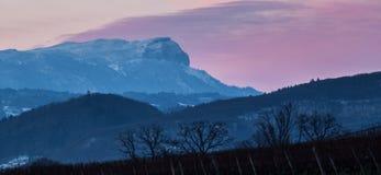 Massiccio II di Mont Blanc Fotografie Stock
