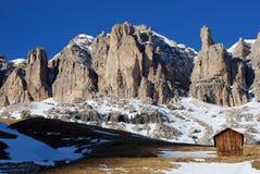 Massiccio in montagne delle dolomia, Italia di Sella Fotografia Stock