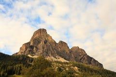 Massiccio Sassongher, Dolomites Stock Image
