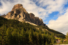 Massiccio Sassongher, Dolomites Royalty Free Stock Photo