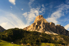 Massiccio Sassongher, Dolomites Royalty Free Stock Photography