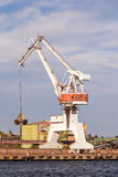 A massice white crane Royalty Free Stock Images