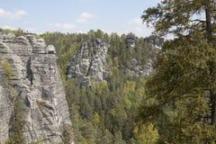 Massief Bastei, Duitsland Stock Fotografie