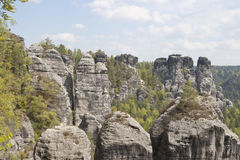 Massief Bastei, Duitsland Stock Afbeelding