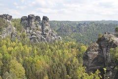 Massief Bastei, Duitsland Royalty-vrije Stock Afbeeldingen