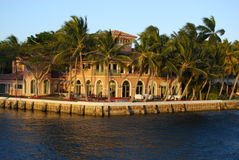 Massief Landgoed in Fort Lauderdale Royalty-vrije Stock Fotografie