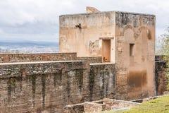 Massieve Alhambra toren royalty-vrije stock foto
