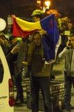 Massieve anti-corruptieprotesten in Boekarest Royalty-vrije Stock Afbeelding