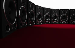 Massieve AudioMuur Stock Afbeelding