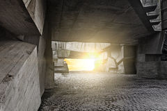 Massieve concrete brokken Stock Foto