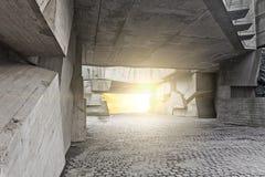Massieve concrete brokken stock foto's