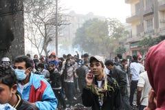 Massieve demonstratie, Kaïro, Egypte Royalty-vrije Stock Fotografie