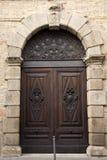 Massieve eiken deur royalty-vrije stock afbeelding