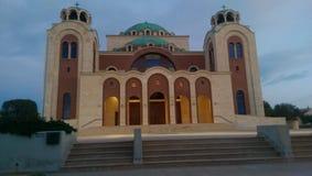 Massieve en charmante kerk Royalty-vrije Stock Foto
