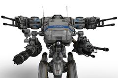 Massieve machine toekomstige robot royalty-vrije illustratie