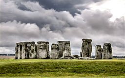 Massieve monolieten in Stonehenge Royalty-vrije Stock Afbeeldingen