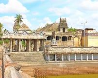 Massieve oude tamil nadu India van tempel complexe chidambaram Stock Foto's