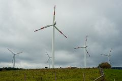 Massieve Windenergie Royalty-vrije Stock Foto