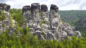Massif Bastei, Germany Royalty Free Stock Image