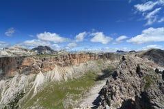 Massif de Dolomiti - de Odle-Puez fotografia de stock