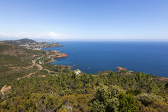 Massif de l'Esterel. Agay in the south of France, Europe royalty free stock photo