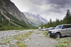 Massif de Mont-Blanc Imagem de Stock