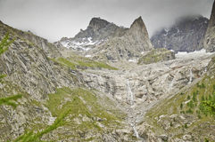 Massif de Mont-Blanc Fotografia de Stock Royalty Free