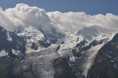 Massif de Mont Blanc Fotos de Stock Royalty Free