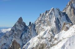 Massif de Mont Blanc, Italie Images stock