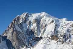 Massif de Mont Blanc, Italie Photo libre de droits