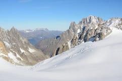 Massif de Mont Blanc, Italie Photo stock