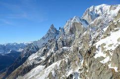 Massif de Mont Blanc, Italie Image stock