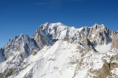 Massif de Mont Blanc, Italie Photos stock