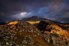 Massif de Mulanje au coucher du soleil Image libre de droits